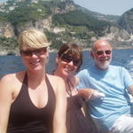 requisitioning a boat to take us from amalfi->positano